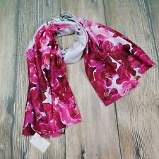New TED BAKER LONDON pink and grey Babylon floral print long scarf