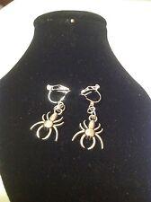 Spider clip on earrings .