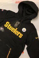 NIKE NFL PITTSBURGH STEELERS MENS THERMAL HOODIE JACKET COAT  NEW WITH TAGS 2XL