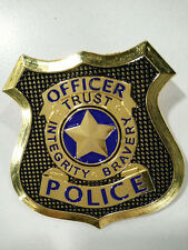 Film Zootopia Police Officer Judy Hopps Nick Wilde Cosplay Prop Pin Brooch Badge