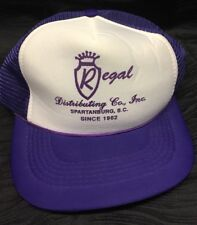Vtg Purple Trucker Hat - Regal Distributing Spartanburg SOUTH CAROLINA Snapback