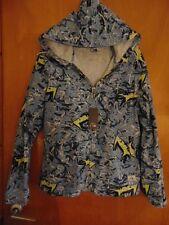 Quiksilver 100%Cotton L/Sleeve Zipper Fasten Hooded Jacket S Blue Mix BNWT