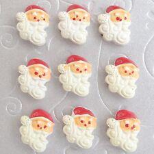 "US SELLER - 10 pcs x 3/4"" Santa Claus Resin Flatback for Christmas/Cards SB417B"