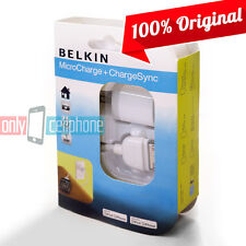 Belkin Apple iPhone 4S 4 3GS iPod Touch Home Wall Charger & Sync Data Cable