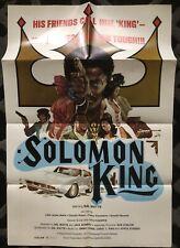 SOLOMON KING 1974 ORIGINAL U.S. 1-SHEET POSTER NEAR MINT