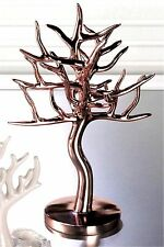 "12.5"" ROSE GOLD FINISH JEWELRY TREE HOLDER RACK STAND ** NIB"