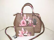 """ASHVILLE"" Designer GUESS Purse, Handbag and Wallet in MOCHA Free US Shipping"