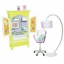 Barbie Doll Armoire Desk Set for My House Furniture Dream House Happy Family