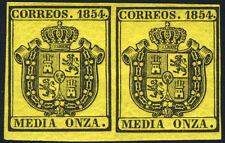 ESPAÑA 28** PAREJA ESCUDO ESPAÑA 1854