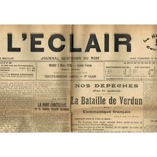 L'ÉCLAIR 7-3-1916 SUMÈNE VACQUÉRAS FONS sur LUSSAN AIGUES-MORTES VAUVERT ALAIS..