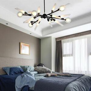 Black Chandelier Lighting Home Pendant Light Kitchen LED Lamp Room Ceiling Light