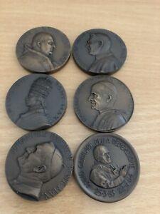 6 x Papst Medaille Vatikan verschiedene Päpste