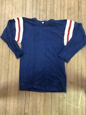 Vintage Cotton 3/4 Sleeve Football Jersey Rare Quaterback Sports Boys Large Rare