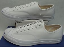 New Mens 12 Converse Jack Purcell JP Signature OX White Canvas 156956C $90