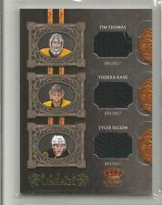 2010-11 Crown Royale Hockey Thomas-Rask-Seguin Bruins Royal Lineage Card  (CSC)
