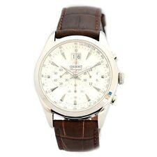 Watch Men's Elegant Quartz Watch ORIENT Date Chrono Leather Sport FTV01005W0