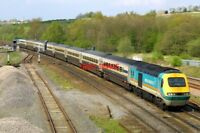 PHOTO  CLASS 43 HST 43057 AT CLAY CROSS JUNCTION ON 24/04/04