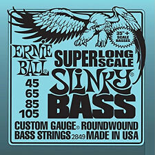 Ernie Ball 2850 5-String Slinky Super Long Scale Bass Strings (45-130) +Picks
