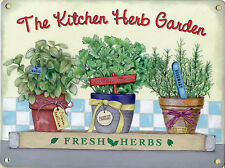 New 15x20cm Fresh Kitchen Herb Garden small metal advertising wall sign