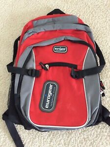 eurogear European Style - Red, Gray and Black - Backpack - NEW with TAGS