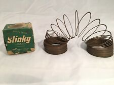 SLINKY - Vintage Original Metal Slinky  - Unpolished Steel in Original Box