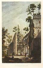 PAULINZELLA - KLOSTER PAULINZELLA - Bechstein - kolorierter Stahlstich 1838