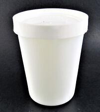 MILK GLASS SALTON YOGURT CUP WITH LID (B11) 10 AVAILABLE