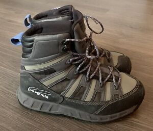 Patagonia Mens Ultralight Sticky Fishing Wading Boots Green Lace Up High Top 9