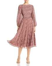 Fame and Partners Printed Midi Dress MSRP $249 Size 4 # 8B 1206 Blm