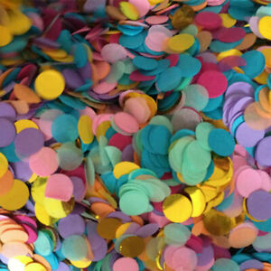 10g 1.5/2.5cm Wedding Engagment Table Confetti Round Metallic Paper Xmas Party A