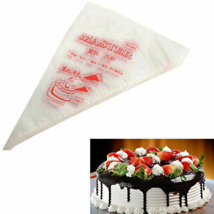 100 Disposal Plastic Cake Piping Bag Icing Cream Pastry Cookies Decorating