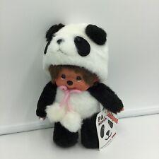 "Sekiguchi Panda Monchhichi Doll 2014 40th Anniversary Plush Japan 8"" New"