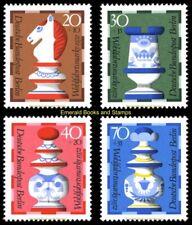 EBS Berlin 1972 Welfare: Faience Chessmen by Gien Michel 435-438 MNH**