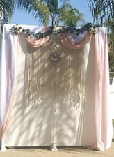 "1 Yard Sheer Chiffon Fabric - 58"" Wide - For Draping/Dress/Curtain/Dec oration"