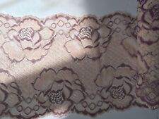 Embroidered nylon lace fabric lace trim 1 yard  width 17 cm