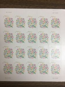 Where Dreams Blossom Forever USPS Sheet of 20 MNH Wedding Stamps
