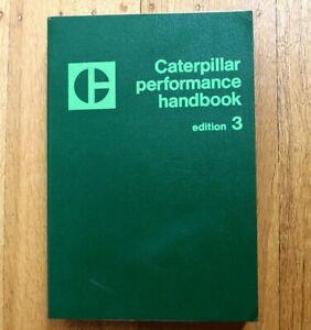 CAT Caterpillar 1973 Performance Handbook Edition 3 Manual specifications book