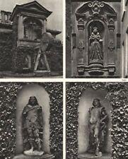 KING LUD & SONS. St Dunstan's Lodge, Regent's Park. Statues. Clock tower 1926