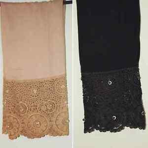 Ladies Trousers Pakistani Indian linen Pants Net Lace Embroidery Salwar