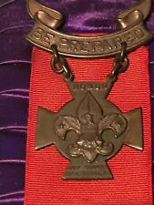 Boy Scout Honor Medal 1910 Awarded in 1912 TH Foley Card and Box for Life Saving