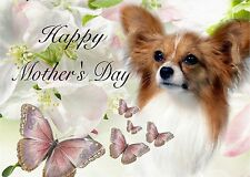 Papillon Dog C5 Gloss Mothers Day Card Design MPAP2-1 by paws2print