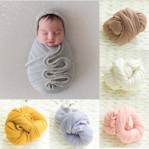 Newborn Stretch Cotton Wrap Baby Photo Wraps Cloth Photography Props Blanket AU
