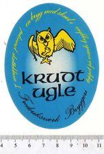 Danish Beer Label - Frederiksvaerk Brewery - Denmark - Krudt Ugle