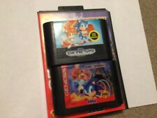 Sonic 2 and Sonic Spinball Sega Genesis Game Bundle