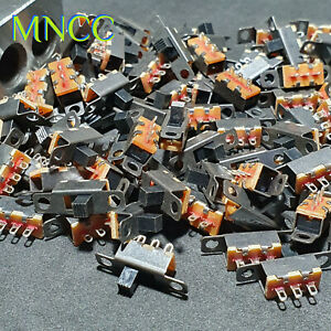 1/2/5pc Mini Panel Slide Switch On/Off SPDT 1P2T DC 50V - 0.5A 3 Pin 2 Position