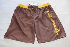 Hawthorn Hawks AFL Mens Brown Printed Board Shorts Size XL New