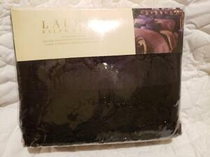 NWT Ralph Lauren New Bohemian Quilt Euro Sham Black Beaded $342