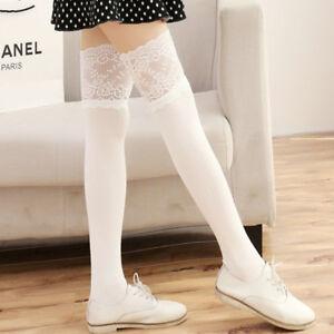 Womens Knit Crochet Leg Warmers Socks High Knee Boot Legging Thick Stocking Girl