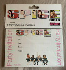 Rare! Official Merchandise Spice Girls Party Invitations Sealed Pack of 8