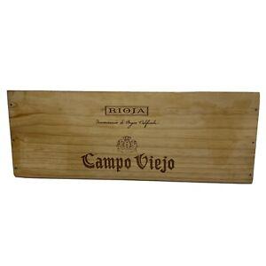 1 Rare Wine Wood Box Side Panel Campo Viejo Rioja